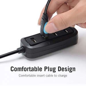 Image 2 - Vention 3A מיקרו USB כבל טעינה מהירה חוט עבור אנדרואיד טלפון נייד נתונים סנכרון מטען כבל 3M 2M עבור סמסונג HTC Xiaomi Sony