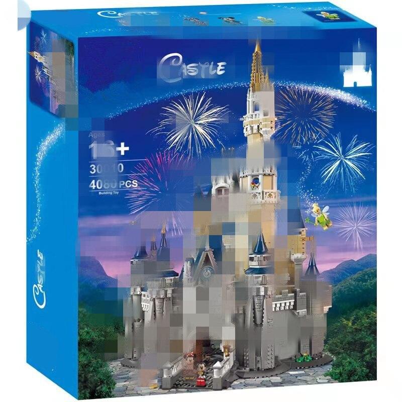Trump 30010 Drops Disney Castle Paradise Celebrity Style 16008 Princess Model Building Blocks Inserted Building Blocks Celebrity