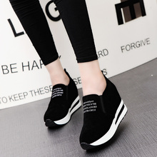 New Flock Increasing Shoes High Heels Lady Casual black