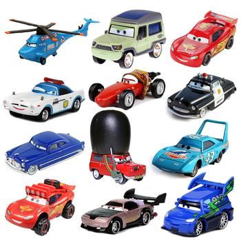 Cars Disney Pixar Car 2 3 Lightning McQueen Mater Jackson Storm 1:55 Diecast Metal Alloy Boy Car Model Kid Birthday Toy Gifts image