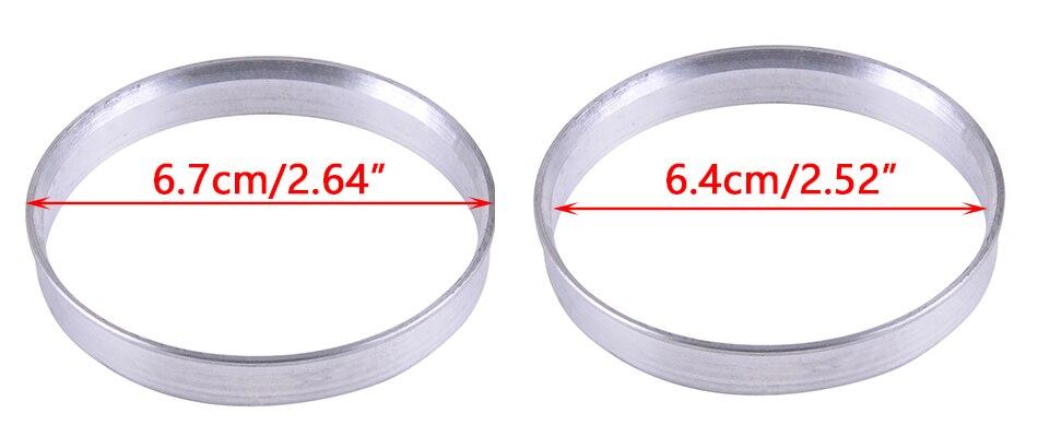 Aleación De Cubo De Rueda Centric individua aluminiuml grifo Anillo 74,1-72,6