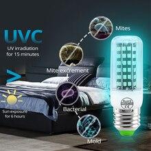 UV Germicidal Lamp Sterilizer Home Disinfection UV Light 110V E27 E14 Ultraviolet Ozone UVC Germicidal Light Corn Bulbs e27 led light bulbs uv lamp light disinfection eliminator lamp ultraviolet light jdh99