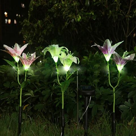 flor multicolorido combinacao led decoracao jardim luz