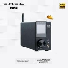 Amplificador estereofônico audio de smsl ad18 hi fi com bluetooth 4.2 suporta apt x, amplificador de potência digital completo de usb dsp 2.1 para o orador
