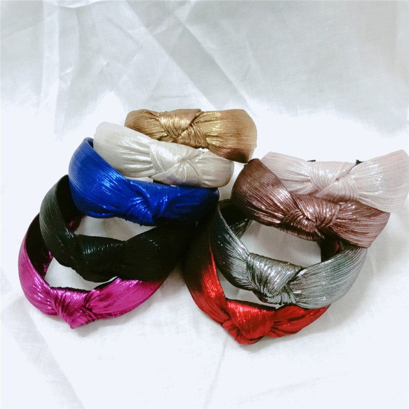 Bohemian Glitter Knot Hairband Handmade Headband Customized Hair Accessories
