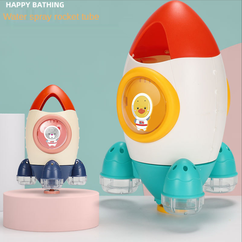 Baby shower children's toys water jet rocket bathroom water jet spinning beach educational toys for baby toys