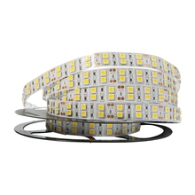 цена на No-Waterproof DC12V 120 LED/M LED Strip SMD 5050 Flexible LED Light Double Row 5050 LED Strip 5m 600LEDS White Warm White RGB