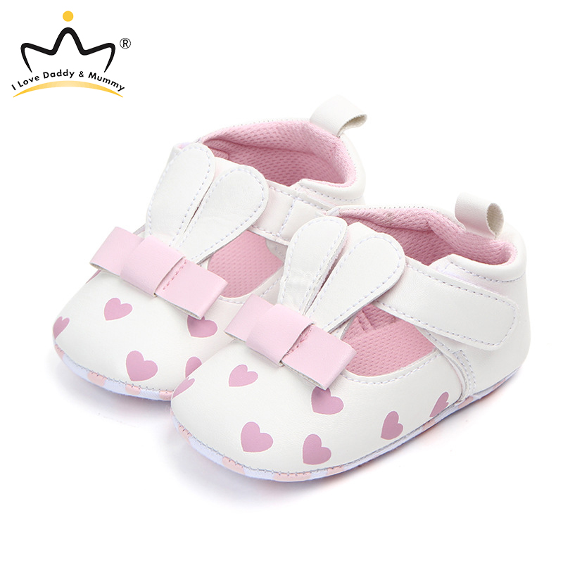 Rabbit Ears Baby Girl Shoes PU Leather Soft Bottom Anti Slip Toddler Shoes Newborn First Walkers Infant Baby Shoes Girls