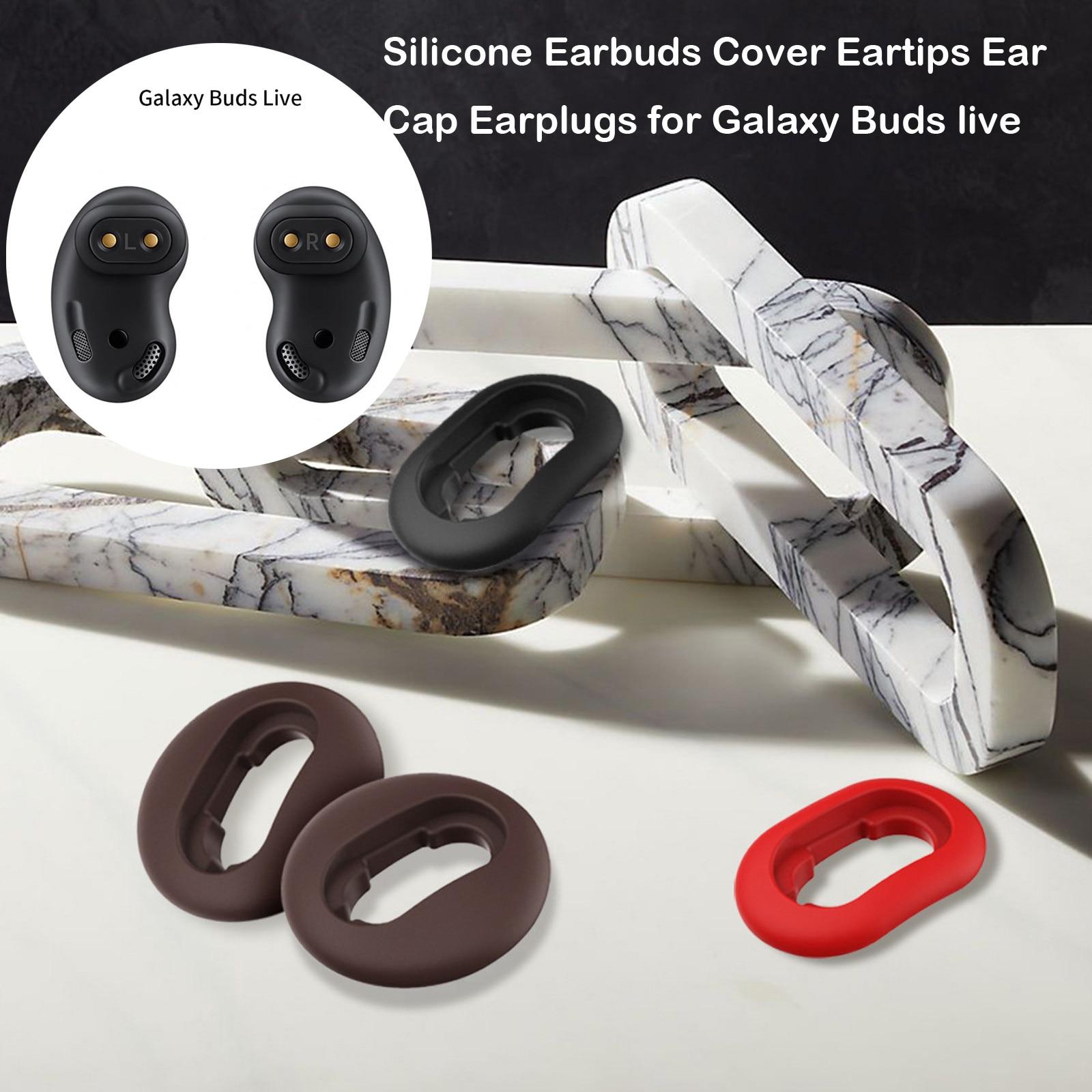 Funda de silicona para auriculares, tapones para los oídos para Galaxy Buds live, Bluetooth