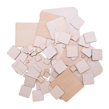 1-14cm Natural Round Square Wood Chip DIY Craft Blank Unfinished Wedding Kids Birthday Party Decoration Painting
