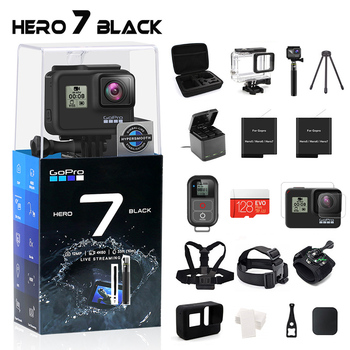 GoPro HERO 7 czarny wodoodporny aparat akcji z ekranem dotykowym kamera sportowa Go Pro HERO 7 12MP zdjęcia na żywo stabilizacja strumieniowa tanie i dobre opinie GPCV1247 GP1 Chip O 12MP 1220mah 1 2 3 cali For Home Semi-professional Extreme Sports Outdoor Sport Activities Bicycle