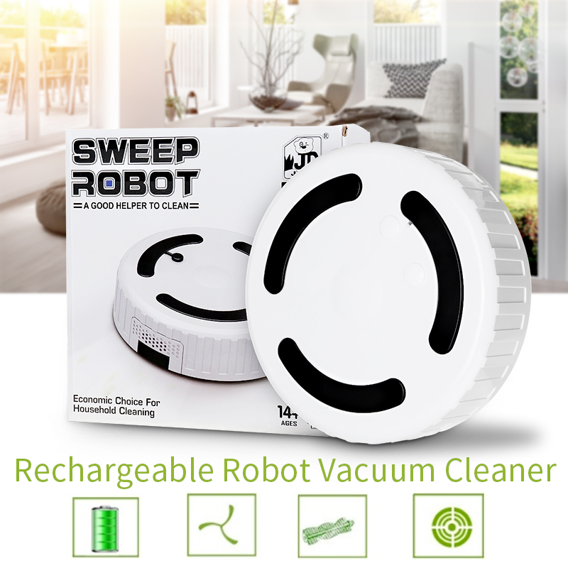 2 In 1 Mini Rechargeable Home Automatic Sweeping Mop Machine Smart Cleaning Robot Vacuum Cleaner Household Dust Suction Drag