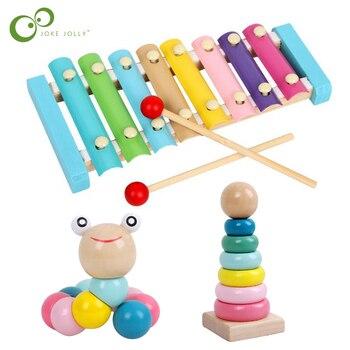 Puzzle kolorowe drewniane zabawki robak dzieci nauka edukacyjne dydaktyczne rozwój dziecka palce gra dzieci Montessori prezent GYH