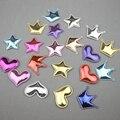 30-100 шт., нашивки в виде сердца, звезды, короны, для детского творчества, заколки для волос, аксессуары для волос, мягкий материал, тиснение