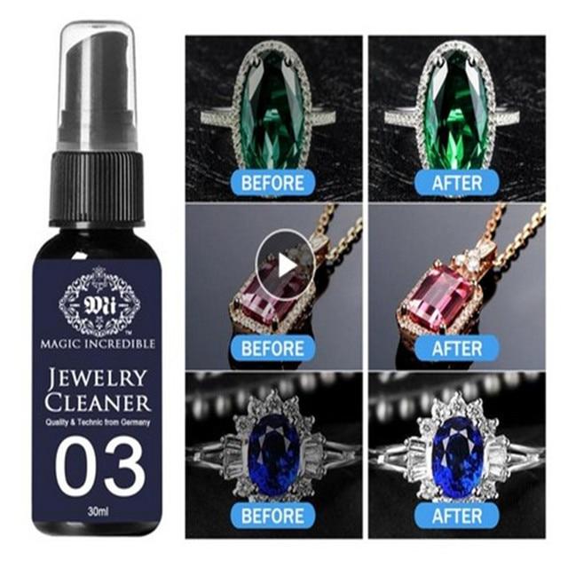Jewelry Cleaner Watch Spray Versatile Rust Remover Anti Tarnish Protection 30ml Rings Making Diamond Rust Detergent Anti Tarnish 1