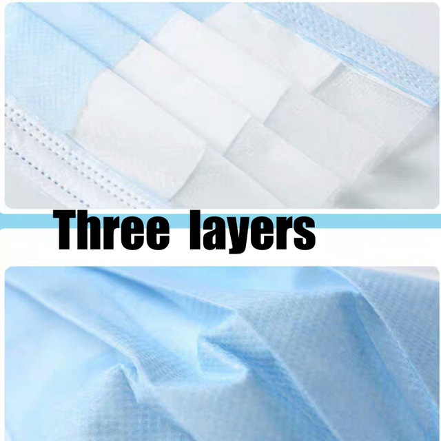 10/100pcs Men Women adult Cotton Anti Dust Mask Activated Filter 3 layers mouth mask muffle Bacteria Flu Face Masks for hair 2