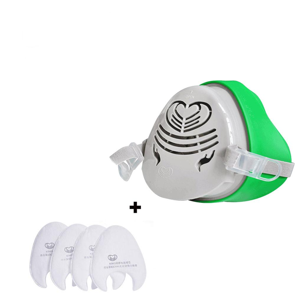 3800 Mask+4 Filters Half Face Dust Gas Mask KN95 Mask Respirator Safety Protective Mask Anti Dust Anti Organic Vapors PM2.5 Fog
