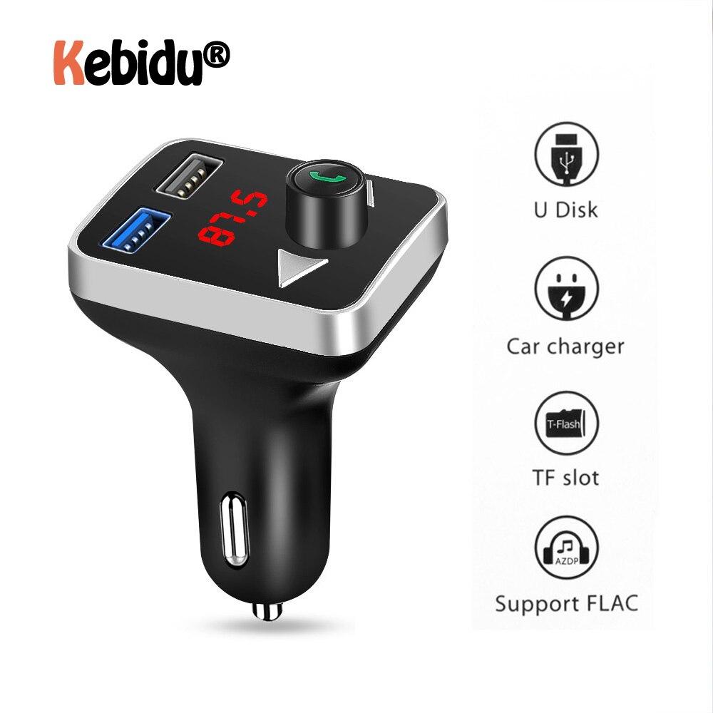 Bluetooth 4.2 FM Transmitter Car Kit Handsfree Radio Adapter Dual USB Charger US