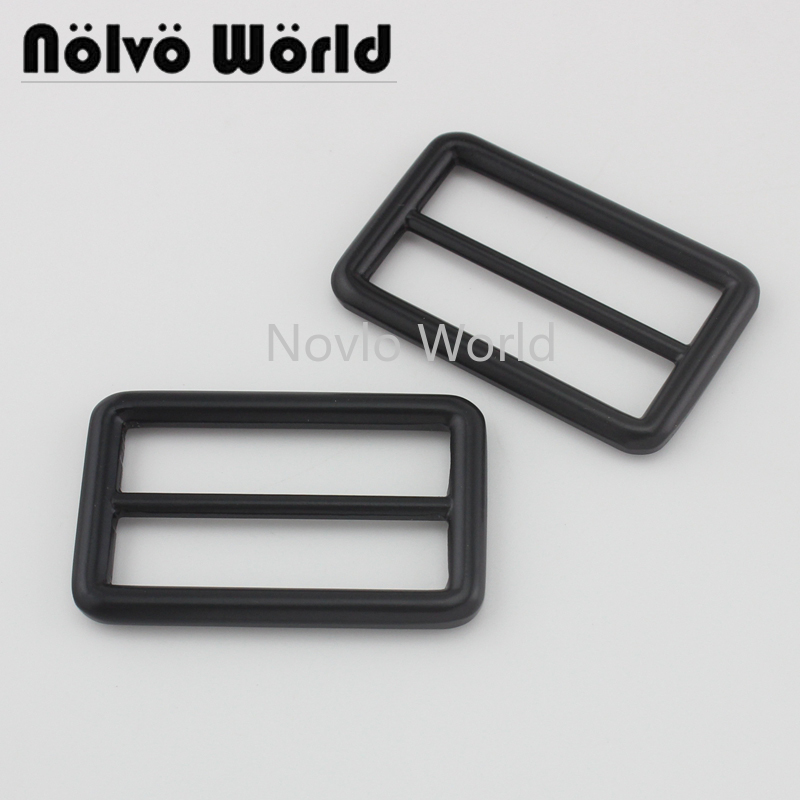 Nolvo World 5-20-100pcs Black Color 38mm 1-1/2 Inch Regular Slider Buckle For Purse Adjusted Long Strap,1.5