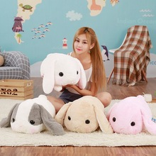 1pc 40cm big long ears rabbit plush animals toys stuffed bunny rabbit soft toys baby kids sleep toys birthday gifts short plush cheap AOSST TV Movie Character COTTON 2-4 Years Plush Nano Doll Stuffed Plush Unisex no eat PP Cotton