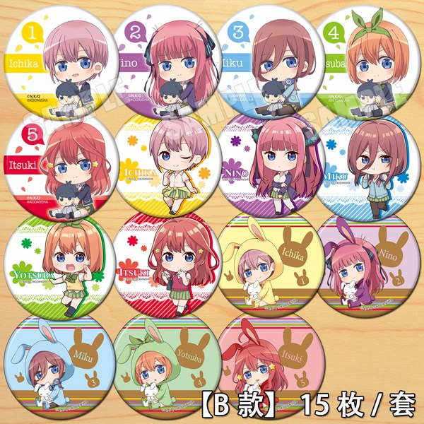 Anime The Quintessential Quintuplets Nakano Miku Badge Button Brooch Pins Medal Collect Badge Clothes Decor Pendant Gift Cosplay