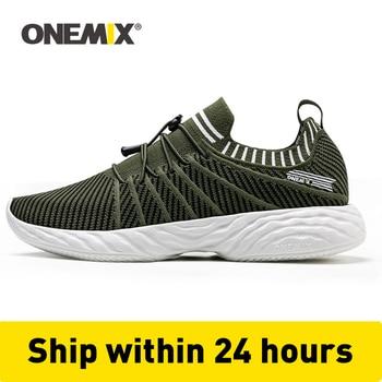 ONEMIX mężczyźni buty do biegania trenerzy wygodne tłumienie odkryty lekkoatletyczny wulkanizowane buty do tenisa Trail Sneakers 350 darmowa wysyłka