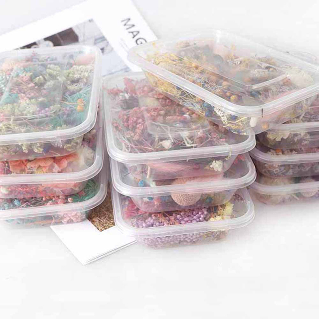 1 Box Random Mix Style Dried Flowers Decoration Natural Floral Sticker Dry Beauty Nail Art Decals Epoxy Mold DIY Filling Jewelry 6
