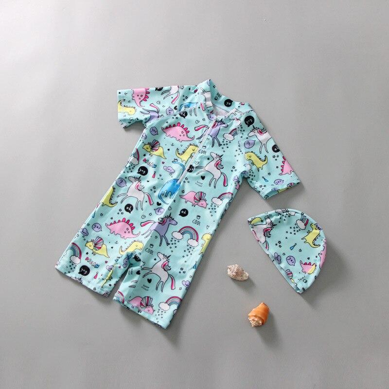 South Korea KID'S Swimwear GIRL'S BOY'S One-piece Cute Dinosaur Baby BABY'S Bathing Suit Sun-resistant 1-3 Years Old Swimwear