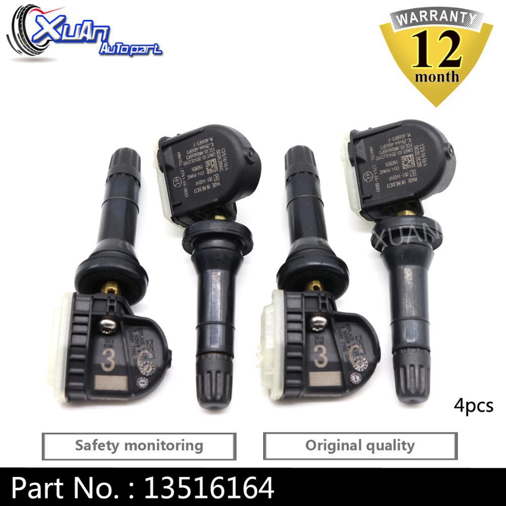 XUAN 4 sztuk czujnik monitorowania ciśnienia w oponach TPMS 13516164 dla Buick Allure Cascada enklawy Encore wyobrazić sobie LaCrosse Regal Verano