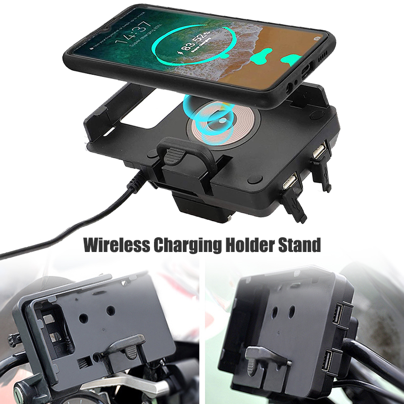 For BMW R 1200 GS LC R1200GS ADV adventure 1200GSA 2013-2019 Wireless Charging Phone Navigation Bracket Phone Holder USB Charger