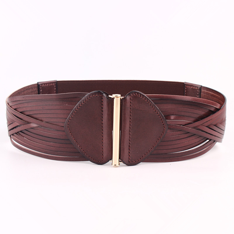 New Design Fashion Trendy 2020 Spring Hot Sale Waistband Female Solid Elastic Wide Belt For Women All-match Braided Belt ZK270