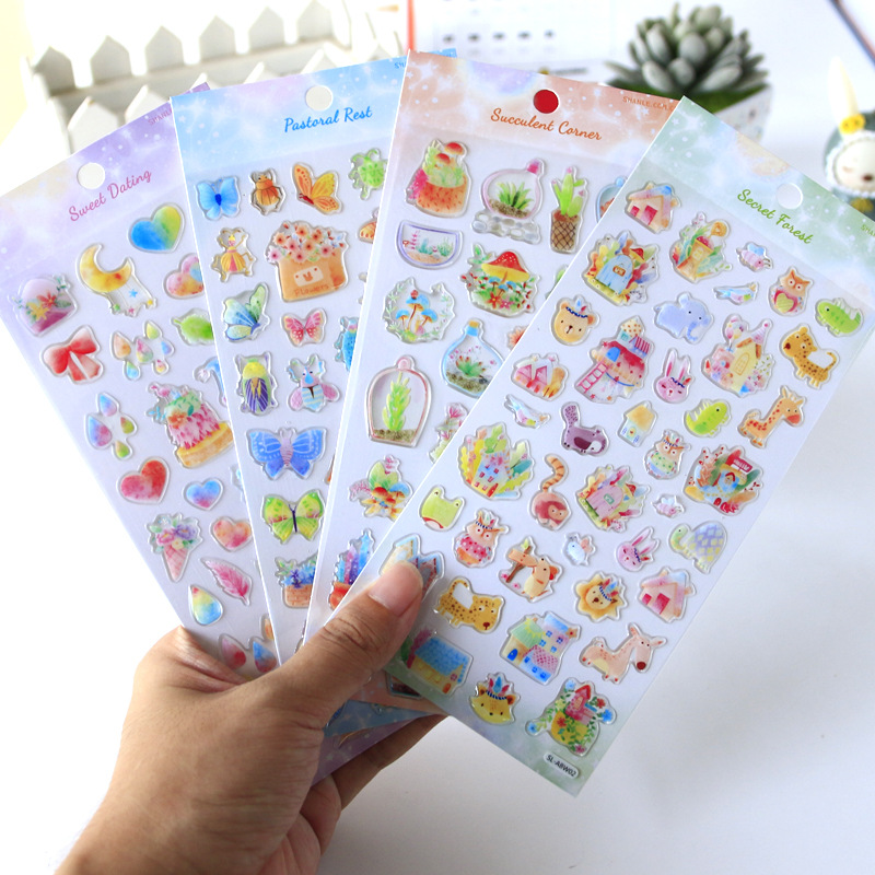 1pcs/1lot Kawaii Stationery Stickers Hand Drawn Diary Decorative Mobile Stickers Scrapbooking DIY Craft Stickers