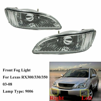 Car Front Fog Light Lamp Pair with Bulbs for 2003-2008 Lexus RX300/RX330/RX350