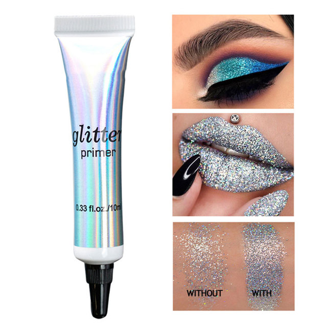Multifunction Shimmer Eye Shadow Sequined Makeup Base Cream Face Primer Cosmetic Milk Face Base Makeup Sequins Base Cream 4