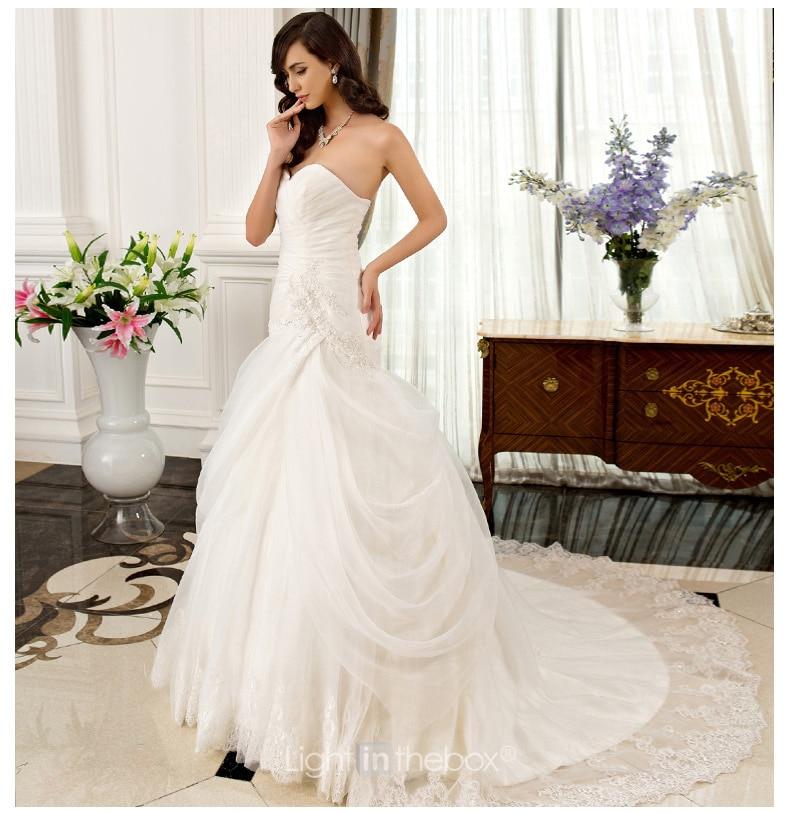 Free Shipping Bride Robe De Soiree Vestido De Noiva 2016 Bridal Gown New Hot Sweetheart Organza Bandage Cheap Wedding Dresses
