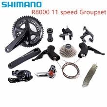 Shimano Ultegra R8000 الطريق دراجة دراجة 11 22 سرعة تجميع تحديث Ultegra 6800 مجموعة مجموعة 170/172.5/175 مللي متر 53 39T 50 34T 52 36T