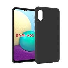 Para samsung galaxy a02 caso simples fino fosco macio silicone capa traseira para samsung galaxy m02 a 02 caso de telefone anti-impressão digital