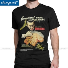 Camiseta de cuello redondo Vintage 6XL de Drácula Original martillo póster 1958 de la película de terror de la momia 100% de algodón