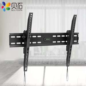 Image 2 - Наклонный настенный кронштейн для телевизора, подставка для ЖК монитора 32 65 дюймов, плоский экран, ТВ s с VESA до 400*600 мм, грузоподъемность 88 фунтов