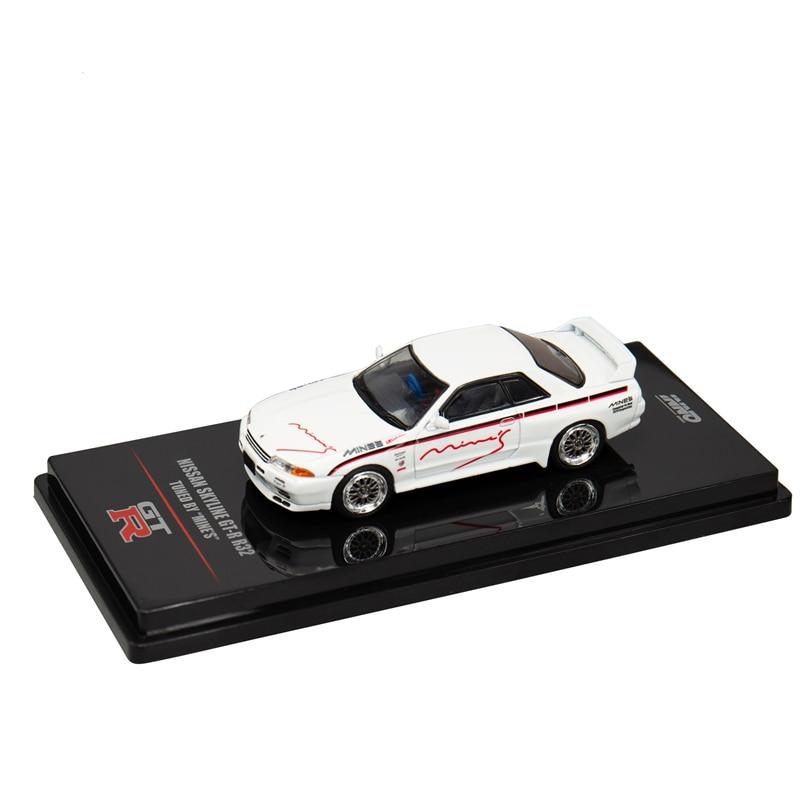 INNO64 Nissan Skyline GTR R32 MINE'S White Die-cast Model Car Scale 1/64