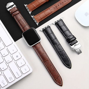 Image 5 - Carouse Genuine Kalbsleder Armband Für Apple Uhr Band Serie SE/6/5/4/3/2/1 38mm 42mm Lederband Für iWatch 40mm 44mm
