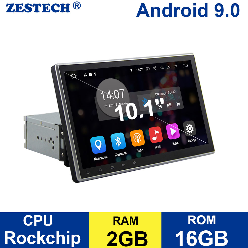 ZESTECH 1 din 10.1 Android 9.0 DVD GPS navigation car universal Radio for nissan kia toyota hyundai volkswagen radio Multimedia image