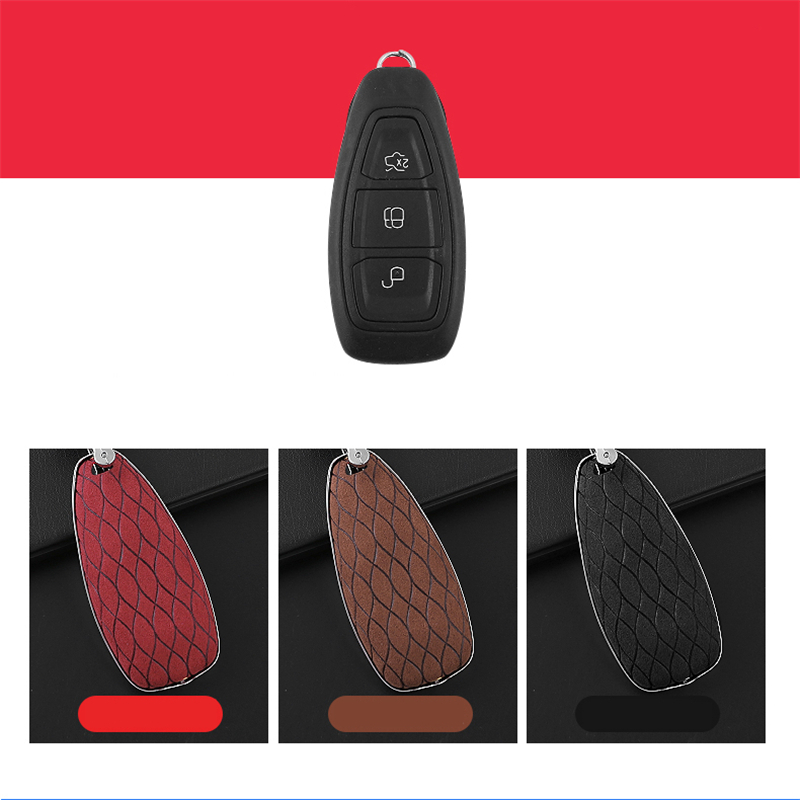 cheapest Faux Flip fur car key case For Ford Edge Mondeo Mustang Fiesta MK ranger C-Max S-Max Focus Galaxy Ecosport Kuga 23ST Explorer KA
