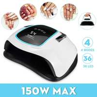 150W High Power Nail Dryer Fast Curings Speed Gel Light Nail Lamp LED UV Lamps For All Kinds of Gel With Timer And Smart Sensor