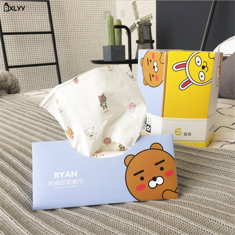 BXLYY New Fashion Printing Paper Creative Small Fresh Home Car Handkerchief Paper Party Supplies Christmas Decoration Party.7z