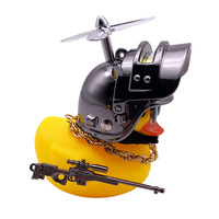 Car Interior Decoration Yellow Duck with Helmet for Bike Motor Accessories Without Lights Auto Car Accessories Duck In The Car 6