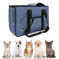 Dog Carrier Bag Portable Cat Dog Pet Travel Bag Outdoor Pet Carrier Bag Fully Enclosed Openable Sunroof Pet Bag M/L
