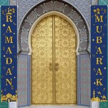 Cortina colgante para puerta de Ramadan Mubarak, cartel para Eid Mubarak, decoraciones para el hogar, Ramadán Kareem, Hajj Mubarak islámica, regalo Eid