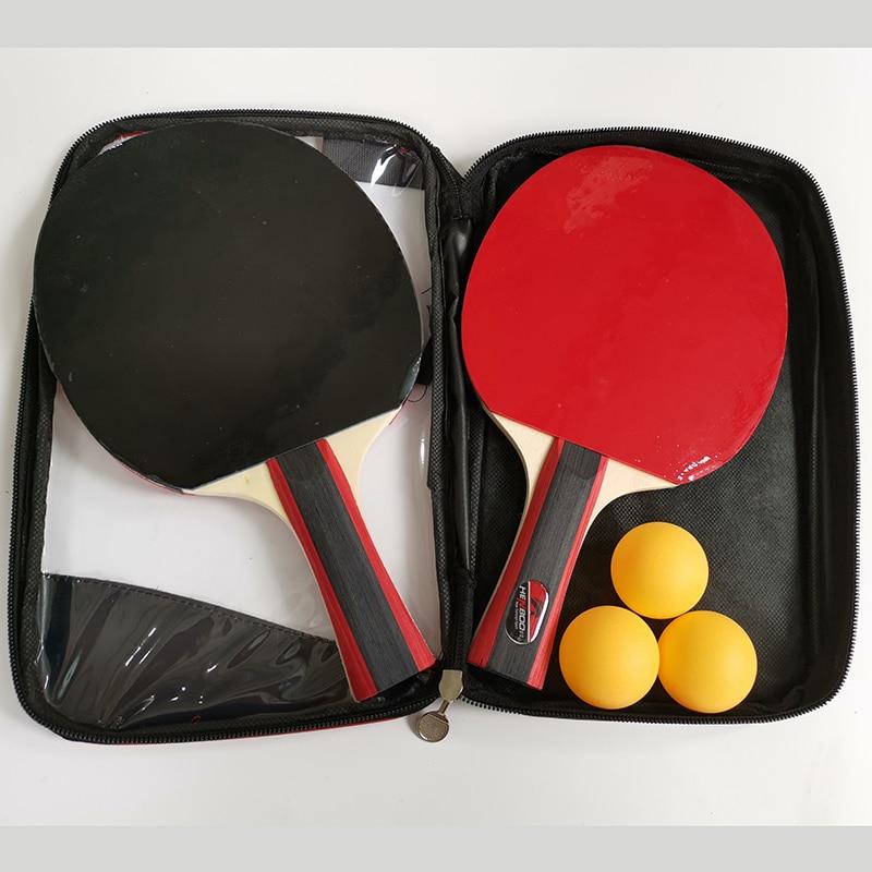 HENBOO Lightweight Table Tennis Racket Set Upgraded Version Racquet High Density Viscosity Strong Rotating Table Tennis Racket in Table Tennis Rackets from Sports Entertainment