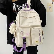 EnoPella Fashion Ladies Cute Nylon Women Backpack Waterproof Female School BookBag Girl Kawaii For Teenager Students Mochila
